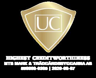 Högsta kreditvärdighet hos UC